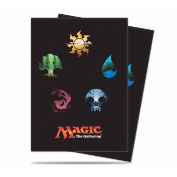 Ultra Pro - Standard Deck Protector - Magic: The Gathering: Mana 5 Symbols (80 Sleeves)