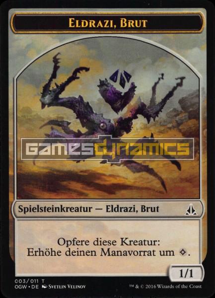 Spielsteinkreatur - Eldrazi, Brut (Version 3)