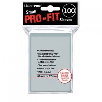 Ultra Pro - Small Sleeves - Pro-Fit Card (100 Sleeves)