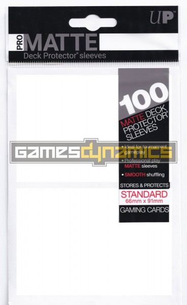 Ultra Pro - Standard Deck Protector - PRO-Matte - 100 Sleeves