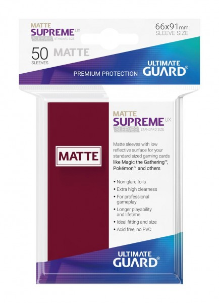 Ultimate Guard Supreme UX Sleeves Standardgröße Matt 50