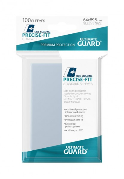 Ultimate Guard Precise-Fit Sleeves Side-Loading Transparent (100)