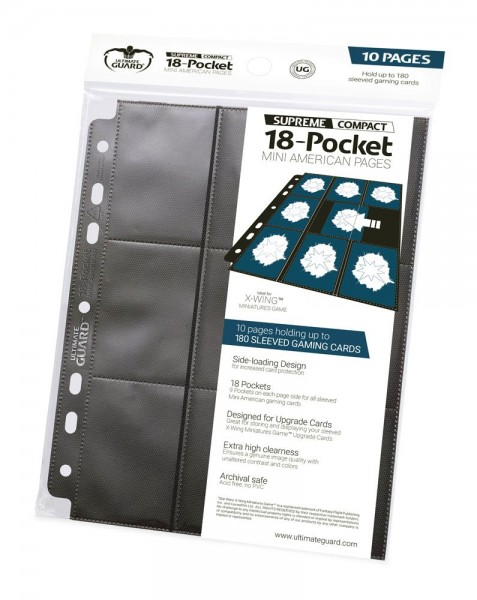 Ultimate Guard 18-Pocket Compact Pages Mini American