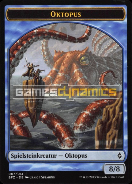 Spielsteinkreatur - Oktopus