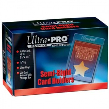 Ultra Pro - Semi-Rigid Card Holders with 1/2Lip (200 Card Holders)