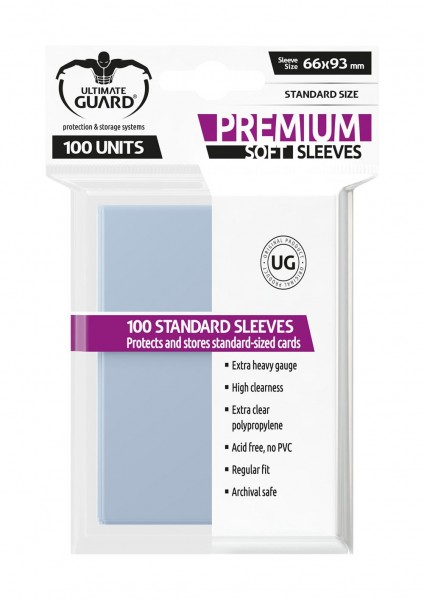 Ultimate Guard Premium Soft Sleeves Transparent 100