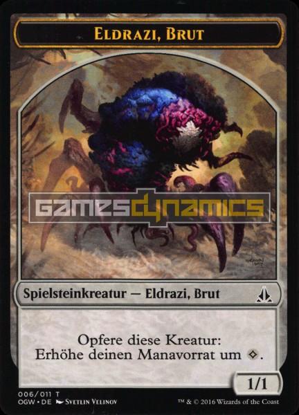 Spielsteinkreatur - Eldrazi, Brut (Version 6)