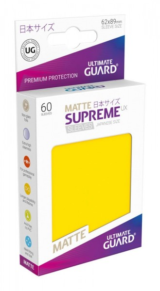 Ultimate Guard Supreme UX Sleeves Japanische Größe Matt