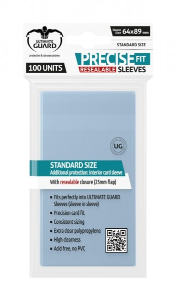 Ultimate Guard Precise-Fit Sleeves wiederverschließbar Transparent (100)