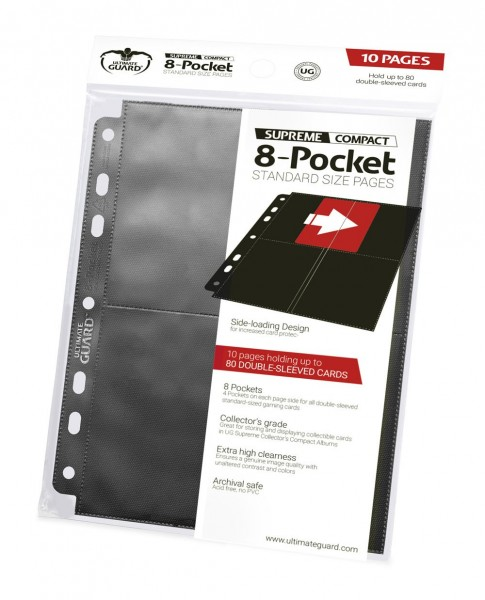 Ultimate Guard 8-Pocket Compact Pages Side-Loading (10)
