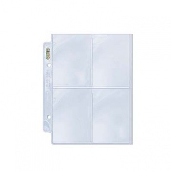 Ultra Pro - Platinum 4-Pocket Pages (for 2Mini Albums) Display (100 Pages)