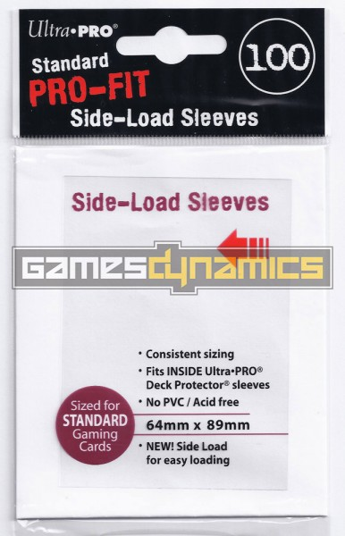 Ultra Pro - Sleeves Standard - PRO-Fit Side Load (100 Sleeves)